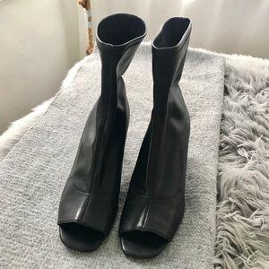 Zara Sock Boots w/ Open Toe